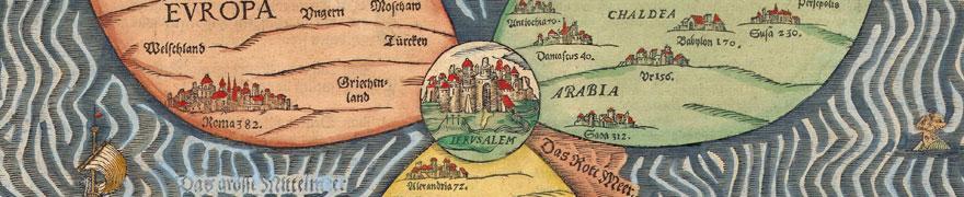 Büntinger Kleeblattkarte, 1581, Detail