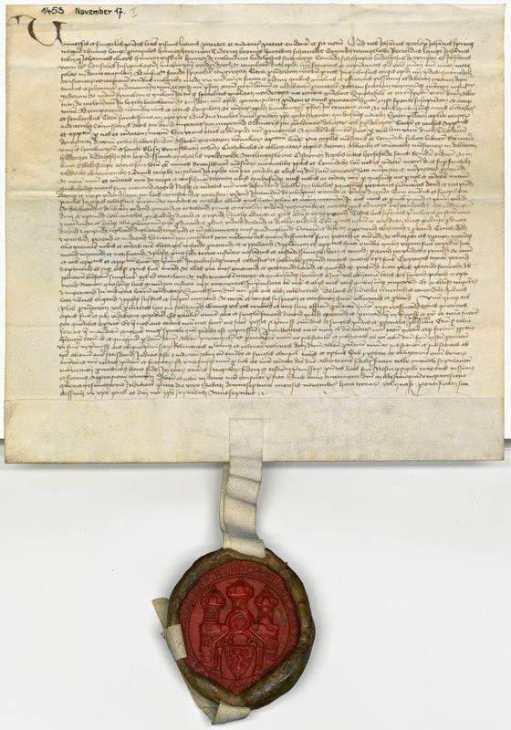 Urkunde Stadtarchiv Lüneburg, groß