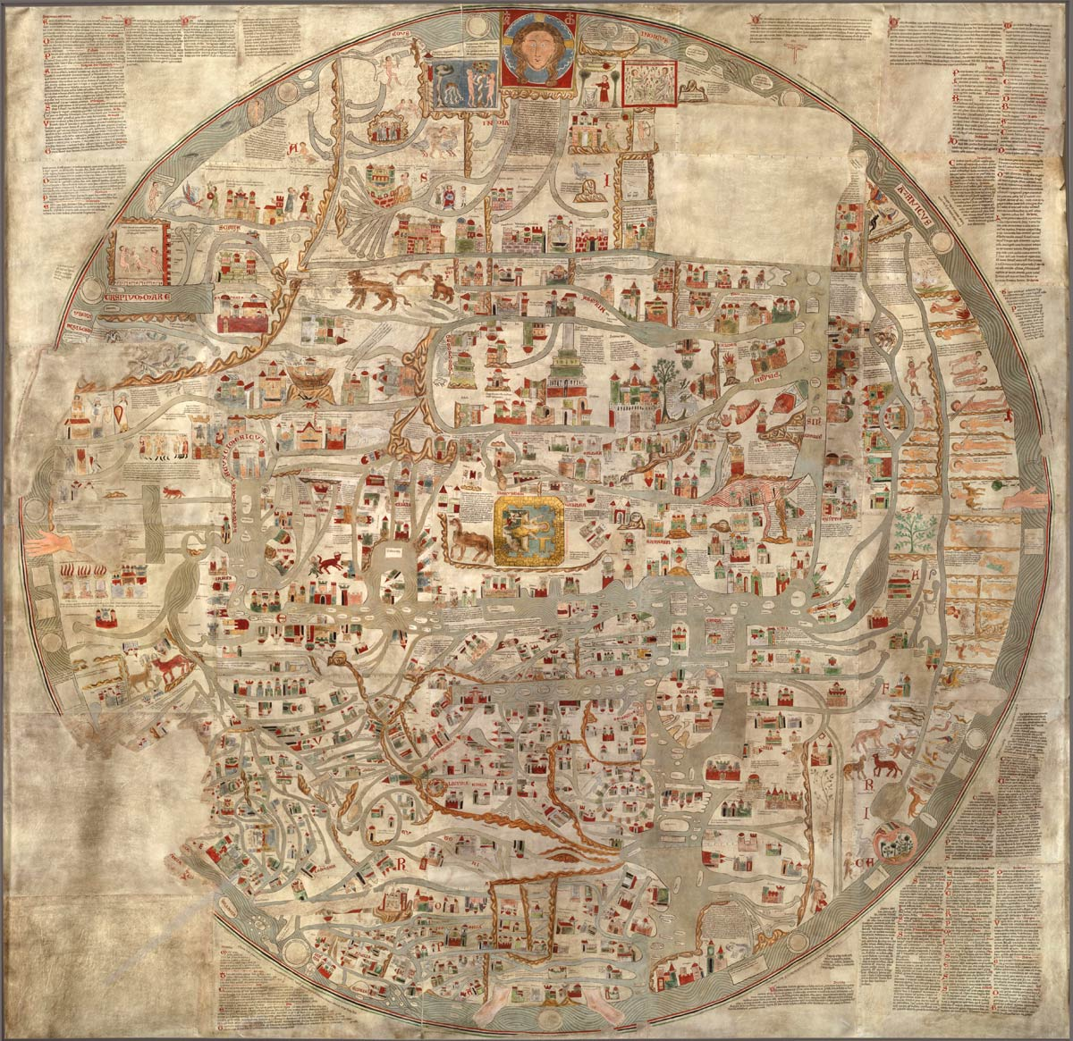 die ebstorfer weltkarte museum lüneburg | Kulturgeschichtliche Objekte: Ebstorfer Weltkarte
